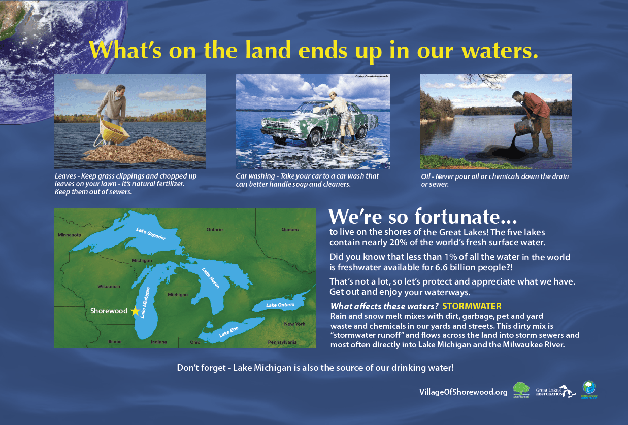 2012 What's on the Land Ends up in Our Waters Information