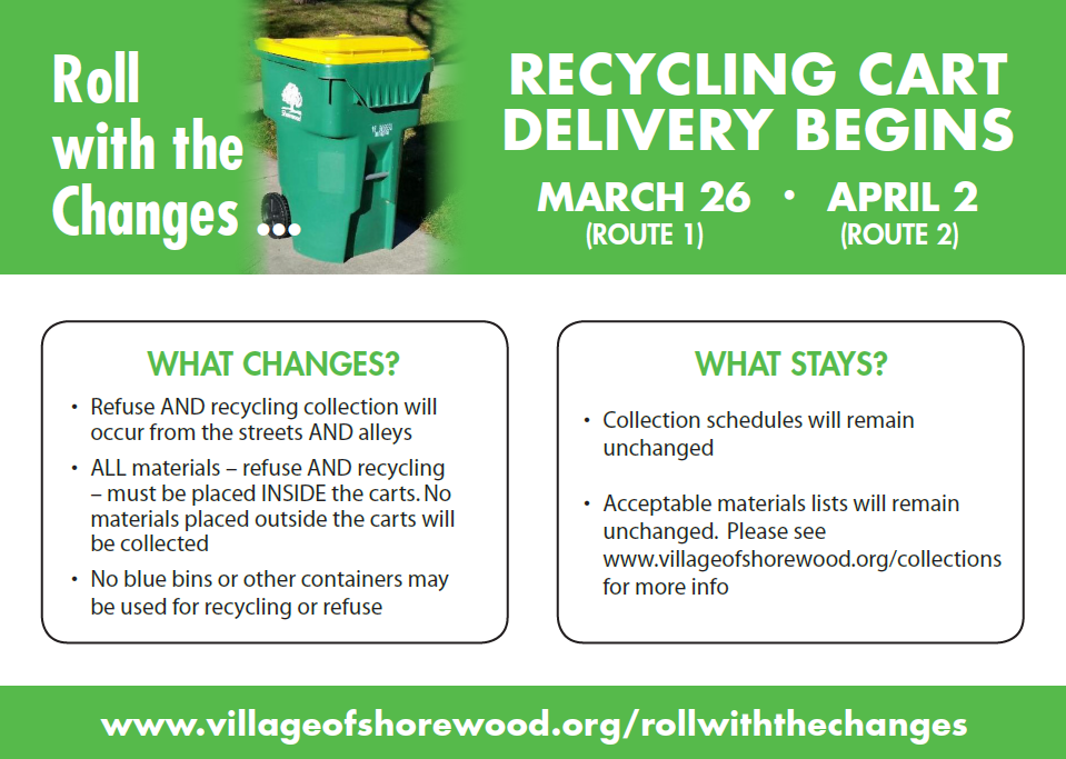 Roll with the Changes Recycling Cart Information